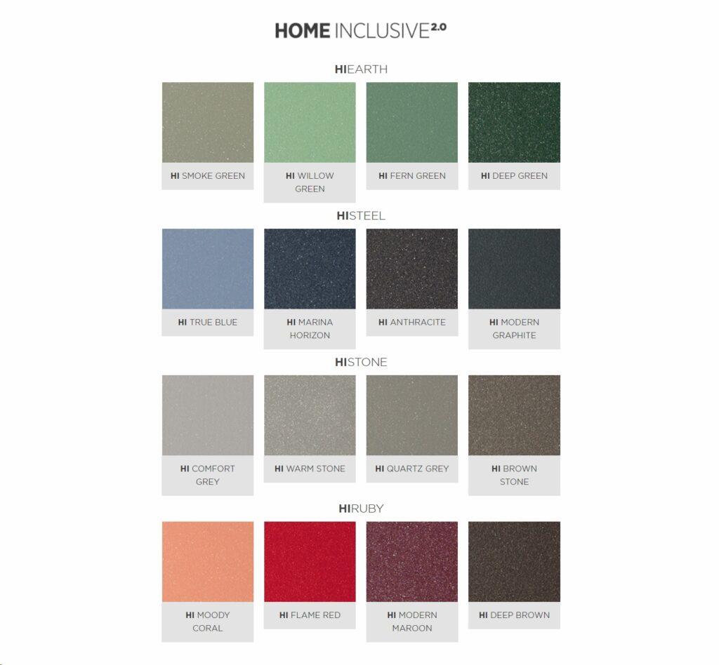 home inclusive colors
